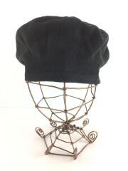 アニエスベー/ベレー帽/コットン/ブラック/サマー生地