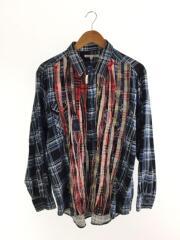 リビルドバイニードルズ/18AW/Wide Ribbon Shirt/長袖シャツ/S/ブルー/チェック