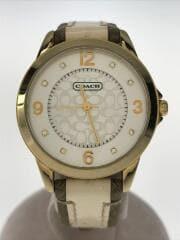 コーチ/CA13.7.34.0648/クォーツ腕時計/アナログ/ベルト劣化有りの為