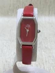 PlusVendome/腕時計/アナログ/RED/RED/プラスヴァンドーム