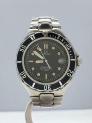seamaster professional 200M/腕時計/アナログ/ステンレス/BLK/SLV