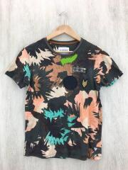 Tシャツ/S/コットン/マルチカラー/カモフラ/ワッペン/ゲス