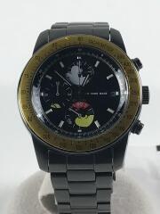 クォーツ腕時計/アナログ/ステンレス/BLK/10th anniversary/ミッキー/ジャムホームメイド