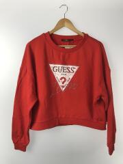 GUESS/ゲス/スウェット/M/コットン/RED