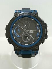 MTG-B1000XB-1AJF/ソーラー腕時計・G-SHOCK/アナログ/ラバー/BLU/BLK/CASIO