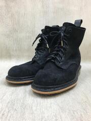 ブーツ/UK10/BLK/スウェード