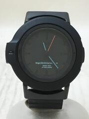 クォーツ腕時計/アナログ/ラバー/BLK/BLK/N855-KME0/061/300/