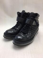 ハイカットスニーカー/38.5/BLK/レザー/1T334E/Leather High-Top Sneaker