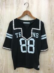 Tシャツ/S/コットン/BLK/