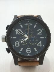 RHCカスタム/クォーツ腕時計/アナログ/レザー/BLK/BRW/キズ有/ベルト使用感有