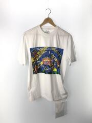 SOUND MATE T-SHIRT/Tシャツ/S/コットン/WHT