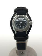 クォーツ腕時計/アナログ/BLK/BLK/