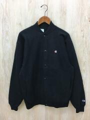 90s/刺繍タグ/スナップカーディガン/L/コットン/BLK/USA製