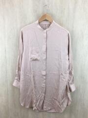 シルキーサテンロングシャツ/長袖シャツ/FREE/ポリエステル/BEG