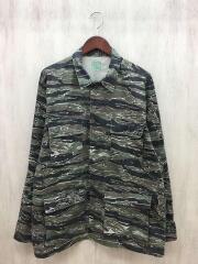 シャツ/ジャケット/L/コットン/KHK/カモフラ