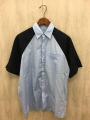 半袖シャツ/S/コットン/BLU/USA製