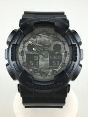 クォーツ腕時計/デジアナ/BLK/BLK/GA-100CF