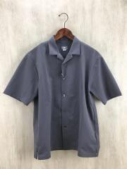 S/S Open-Collared Knit Shirt/半袖シャツ/M/ポリエステル/GRY/タグ付