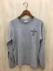 DOGTOWN/スリーブプリント/長袖Tシャツ/コットン/GRY