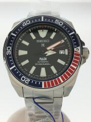 プロスペックス/ダイバー自動巻腕時計/アナログ/ステンレス/BLK/SLV/4R35-01X0