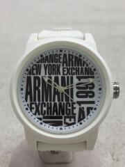 AX1442/クォーツ腕時計/アナログ/ラバー/WHT/WHT/AX1442