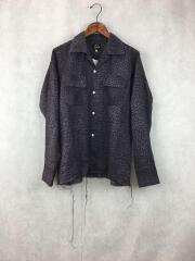 Cut-Off Bottom Classic Shirt/XS/リネン/レオパード/GL194
