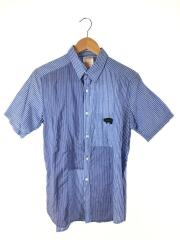 Gipsy/半袖シャツ/3/コットン/BLU/ストライプ/YO-B28-573