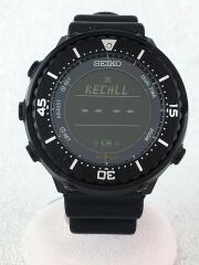 ×URBAN RESEARCH/ソーラー腕時計/デジタル/ラバー/BLK/S802-00K0