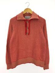 セーター(厚手)/--/コットン/RED