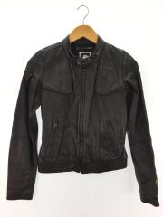 MEW DEANIE LEATHER BOMBER/XS/羊革/BLK/無地