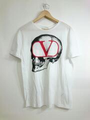 スカルロゴプリントTシャツ/SV0MG04C5RL/M/コットン/WHT
