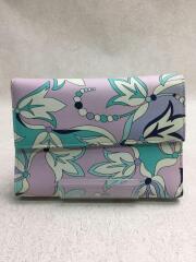 3つ折り財布/保存袋付属/レザー/マルチカラー/総柄