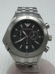 クォーツ腕時計/AR-0546/アナログ/ステンレス/BLK/SLV