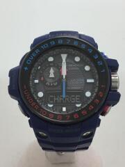 カシオ/ジーショック/ガルフマスター/ソーラー腕時計・G-SHOCK/デジアナ/ラバー/ブルー//電波  GULFMASTER Triple Sensor   GWN-1000H