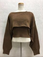 セーター(厚手)/FREE/ポリエステル/BRW/11820514