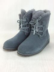ブーツ/UK4/GRY/ウール