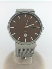 クォーツ腕時計/アナログ/--/BRW/SLV