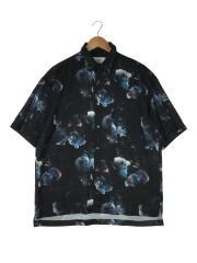 半袖シャツ/2/ポリエステル/BLK/総柄/109302005/2019年製