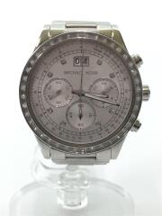 クォーツ腕時計/MK-6186/アナログ/ステンレス/WHT/SLV
