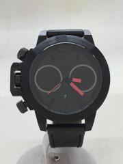 クォーツ腕時計/アナログ/レザー/GRY