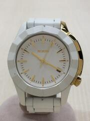 ニクソン/クォーツ腕時計/アナログ/ステンレス/ホワイト/MONARCH