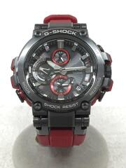 ソーラー腕時計・G-SHOCK/アナログ/ラバー/BLK/RED