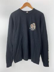 THE FLAT HEAD/ザフラットヘッド/長袖Tシャツ/42/コットン/ブラック/無地