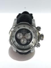 インヴィクタ/クォーツ腕時計/アナログ/クロノグラフ/ラバー/シルバー/ブラック/20439/ベノム