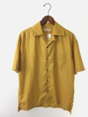 リドム/マイクロスパンオープンカラーシャツ/S/ポリエステル/イエロー/無地/L18SS-122