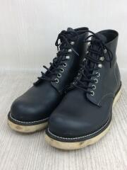 6 CLASSIC ROUND/ブーツ/US7.5/BLK