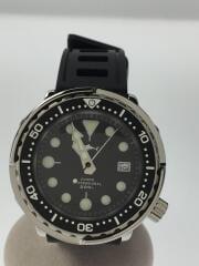 HEIMDALLR/クォーツ腕時計/アナログ/ラバー/BLK/BLK
