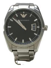 AR-6019/クォーツ腕時計/アナログ/ステンレス/ブラック/シルバー