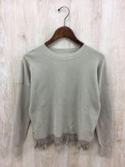 セーター(薄手)/36/コットン/BEG/無地