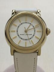 コートニー/COURTNEY/MJ1449/クォーツ腕時計/アナログ/レザー/WHT